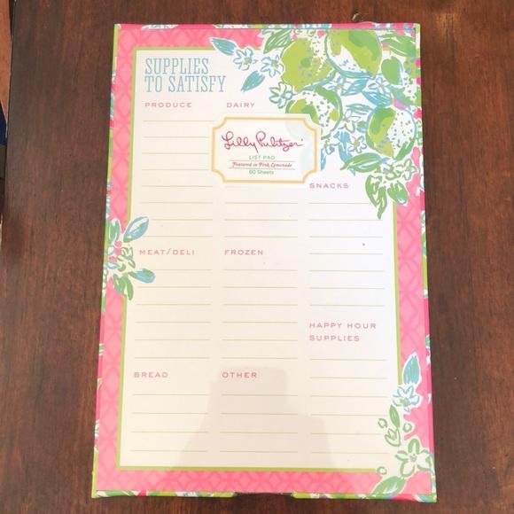 34bda73058a82f Lilly Pulitzer Accessories | List Pad In Pink Lemonade | Poshmark